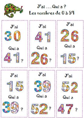 Atelier lecture nombres