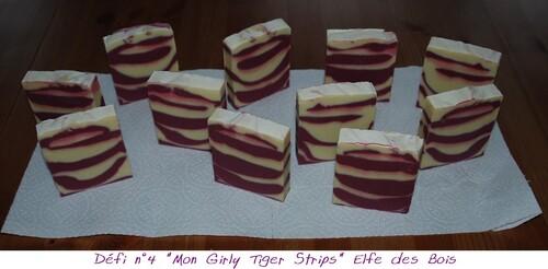 """Défi des Bulles n°4 """"Mon Girly Tiger Strips"""""""