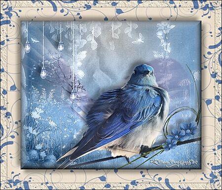 L'oiseau bleu du printemps
