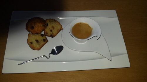 Muffins à la noix de coco et aux pépites de chocolat