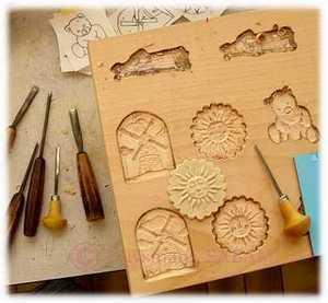 Sculpture sur bois: moule à biscuit - Arts et sculpture: sculpteurs, artisans d'art