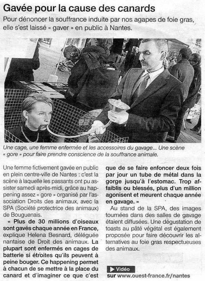 Ouest France du 18 décembre 2011