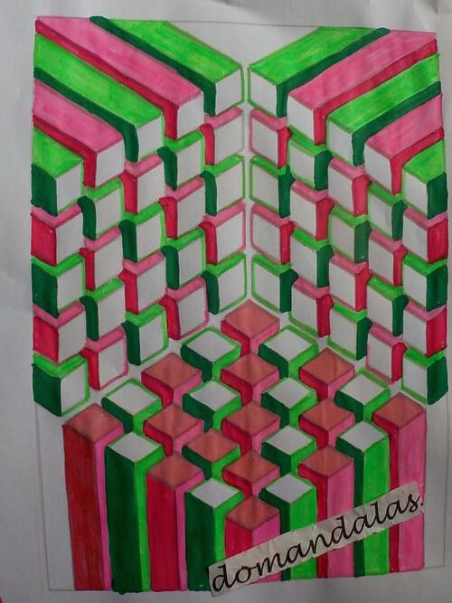 DOMANDALAS  coloriages illusions bizarrerie formes géométriques