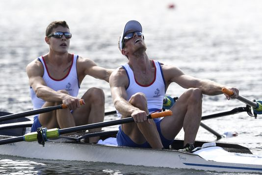 Jeremie Azou et Pierre Houin à Rio, le 11 août.
