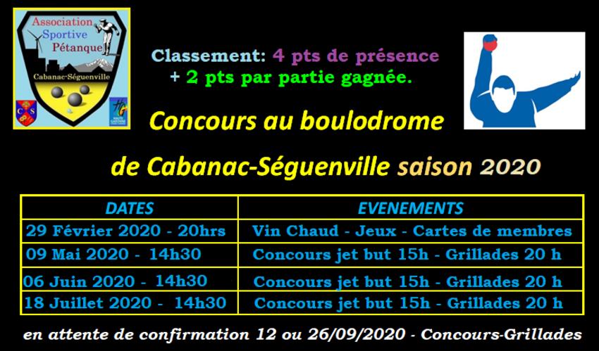 Amicaux à Cabanac-Séguenville 2020.