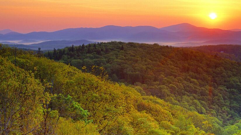 5 Images de lever et de coucher de soleil