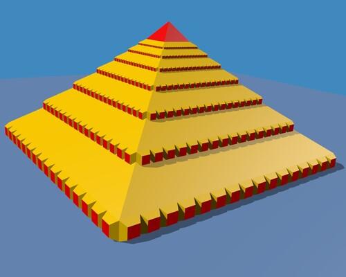 Mon rendu de la pyramide
