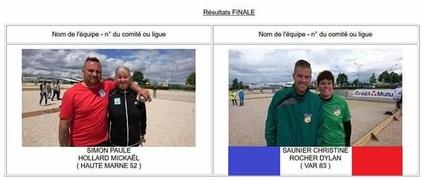 Championnat de France Doublette Mixte.