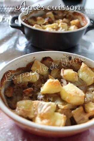 Gratin d'endives pomme noix et camembert