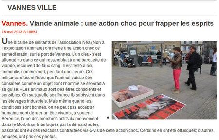 Abolition de la viande - Vannes - 19/05/2013