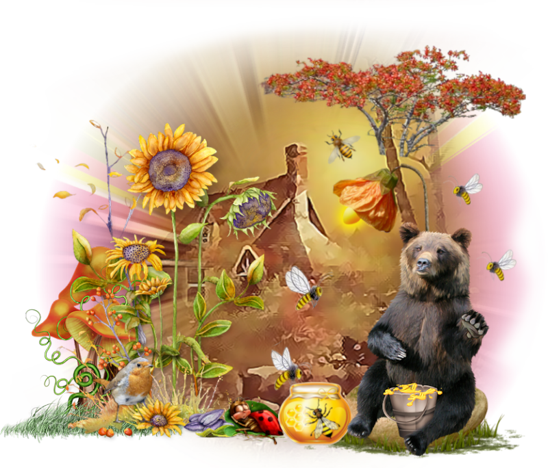 *** L'ours gourmand ***