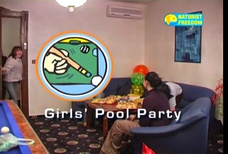 Naturist Freedom - Girls Pool Party / Голый биллиард. DVD.