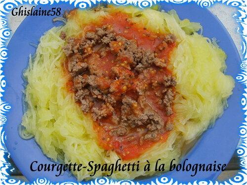 Courgette-spaghetti à la bolognaise