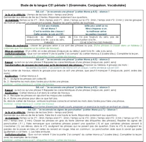Mona Etude De la Langue CE1 Période 1