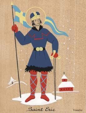 Saint Eric de Suède. Roi de Suède († 1160)