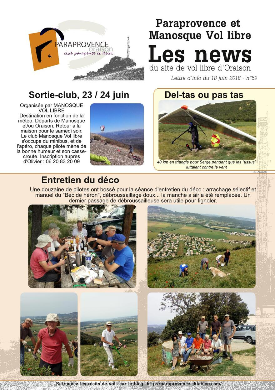 PARAPROVENCE  NEWS 59 - juin 2018