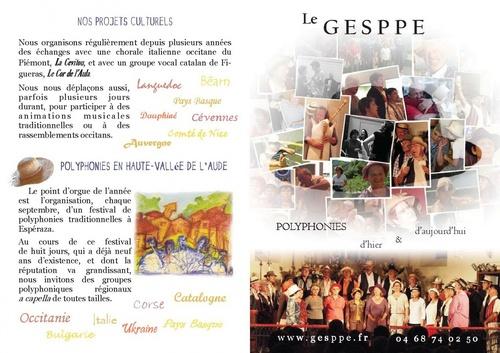 Présentation du GESPPE - Plaquette Recto