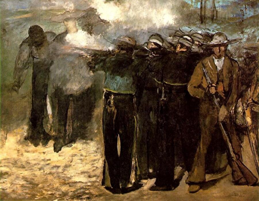 Manet 10 /      1868- l'exécution de l' empereur Maximilien