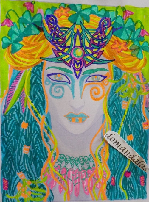 coloriage album magical beauties, dessin Cristina McAllister, essai 4