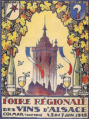 Affiche : Foire aux vins 1948