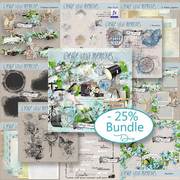 Create your memories Bundle PU by Florju Designs