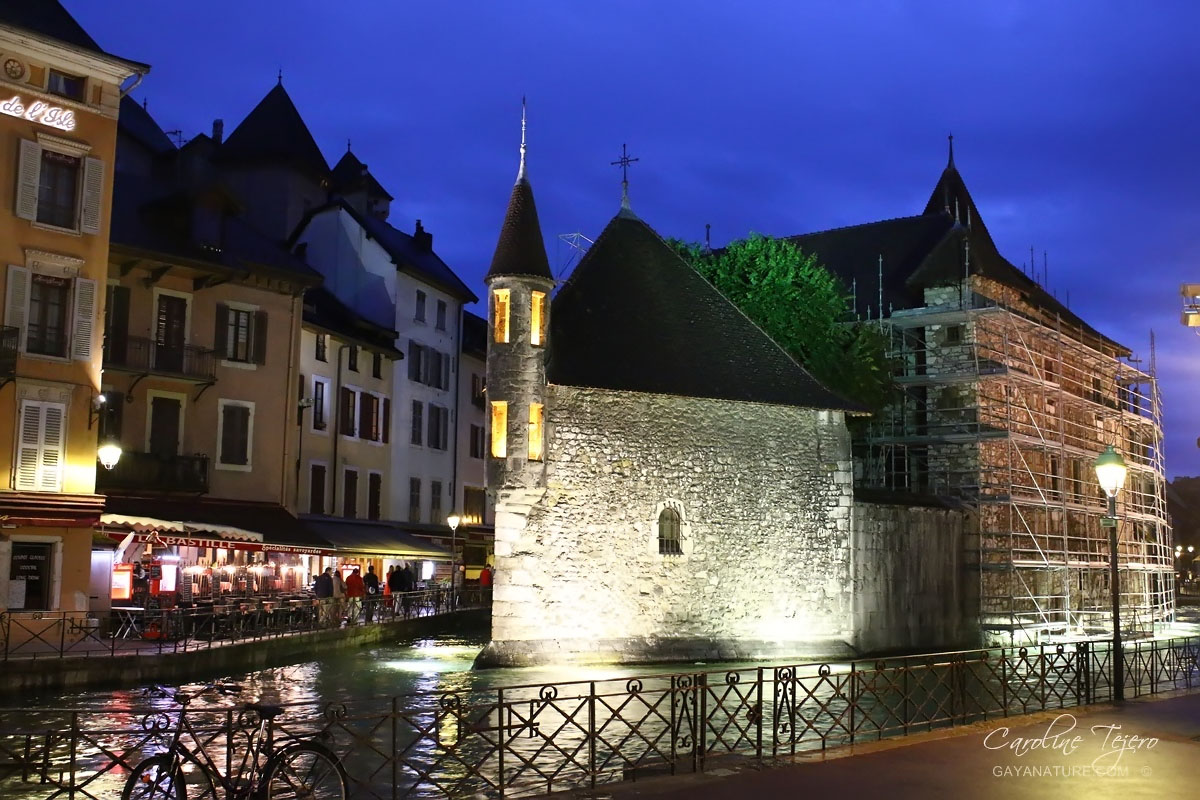 Le canal à Annecy, Haute-Savoie