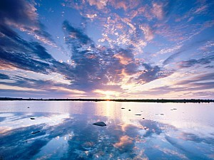Sunset Skies, Tundra Lake, Churchill, Manitoba, Canada