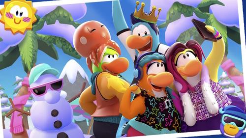 """L'équipe de l'Île de Club Penguin au parc aquatique """"Blizzard Beach"""""""
