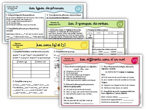 Mise à jour exercices de Français CE2