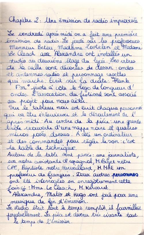 Carnet de bord de la résidence d'artiste par Manon (1)