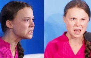 Greta Thunberg, cette affreuse gamine le visage déformé par la haine