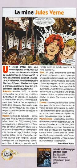 "Article magazine B.D. - ""Les Indes noires""."