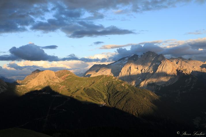 Couché de soleil dans les Dolomites