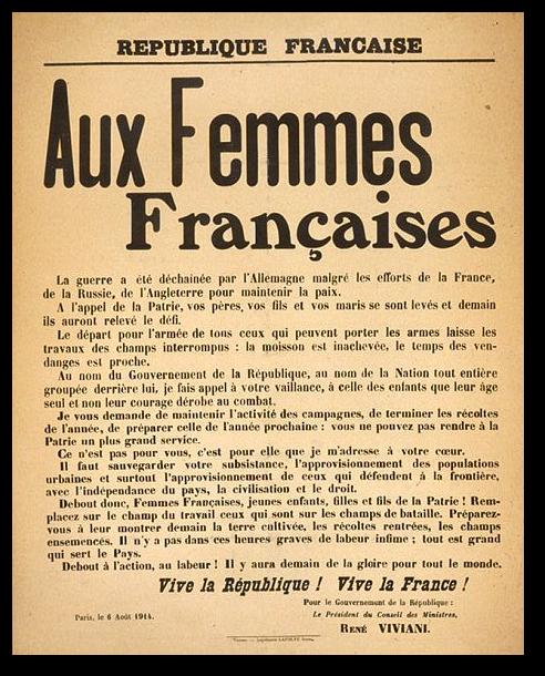 LES FEMMES DURANT LA GRANDE GUERRE