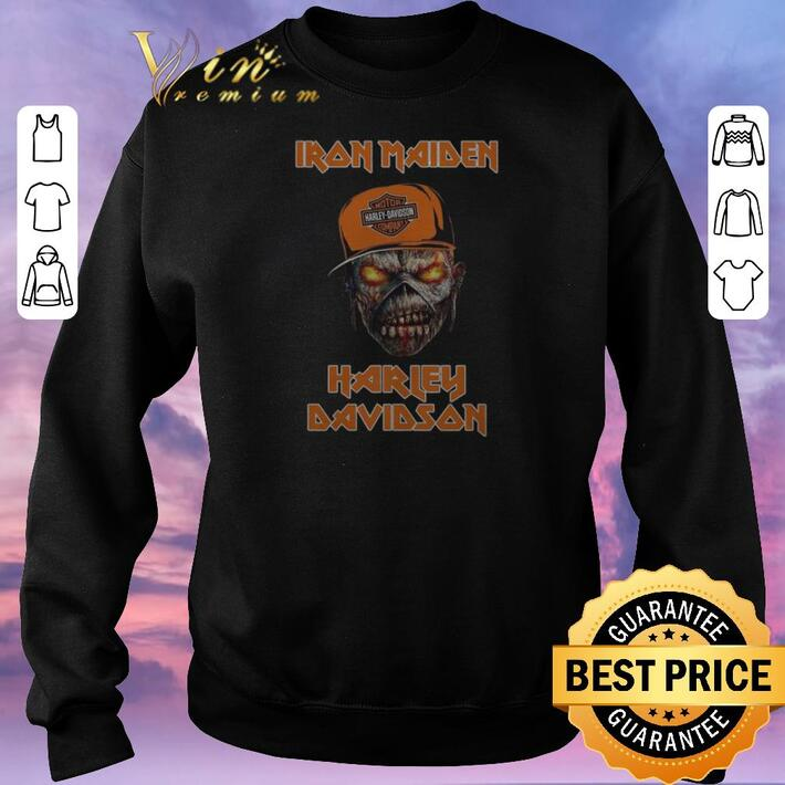 Awesome Iron Maiden Harley Davidson shirt