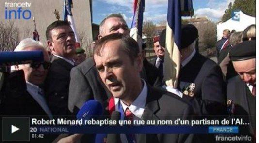 Béziers : Retour sur la journée du 14 mars 2015 *** *** Et l'homme à la mèche évocatrice mettra aujourd'hui 19 mars 2015 les drapeaux en berne