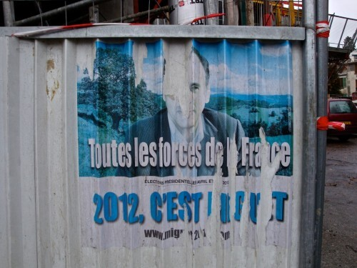 affiche Présidentielle 2012 Miguet délavé