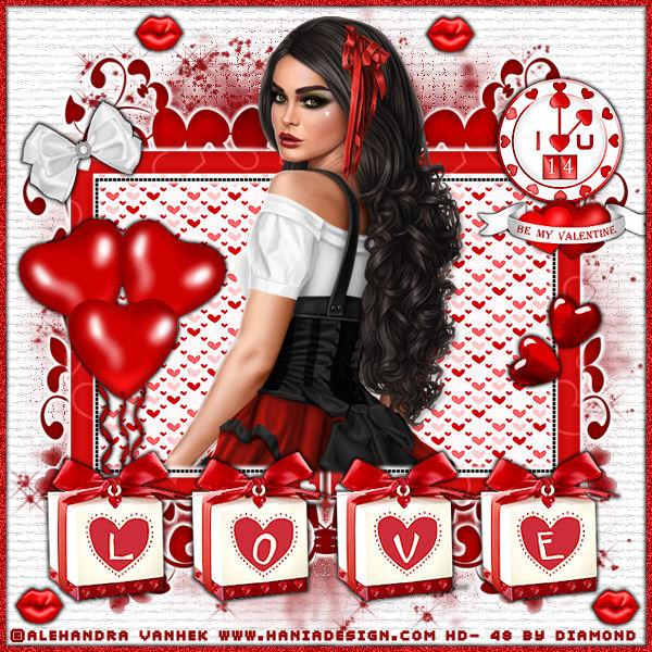 "Tutoriel ""My valentine"" de Liligraph"