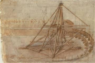 Une machine pour creuser les canaux.© Biblioteca Ambrosiana