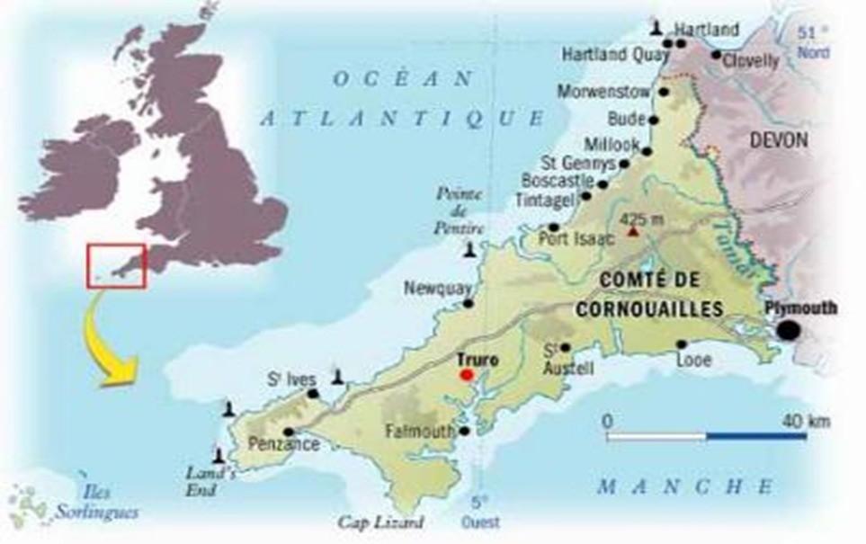 Carte Angleterre Plymouth.Arrivee A Plymouth Par Le Ferry Pour Visiter Les