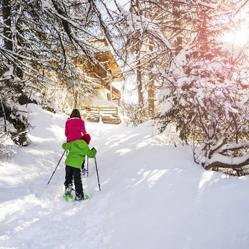 Le ski ce sera raquette et le soir raclette !!!