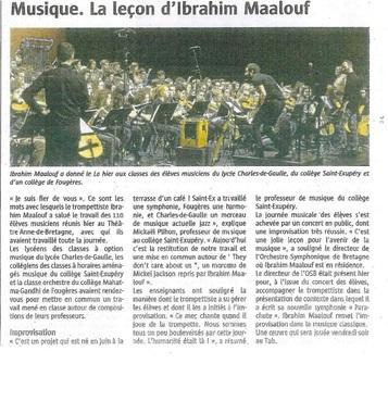 Le projet Ibrahim Maalouf du 11 mars 2015