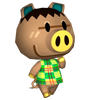 Justin animal crossing WII