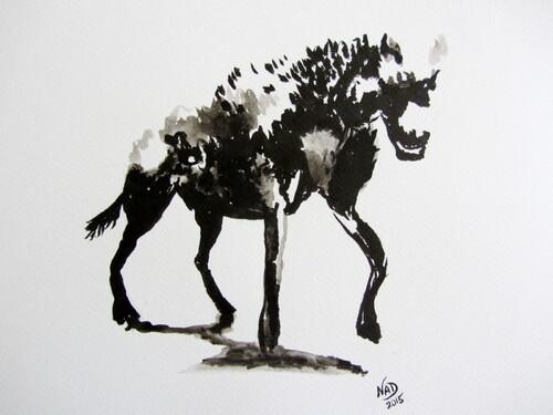 Essai à l'encre #1 : Hyène