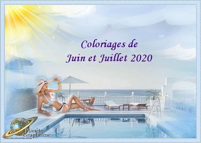 Coloriage de Juin et Juillet 2020