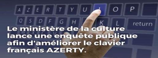 Enquête Publique de l'Afnor : Disposition du clavier bureautique français
