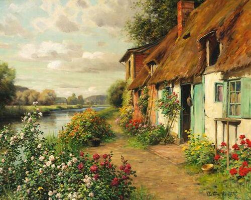 Un peintre...des roses