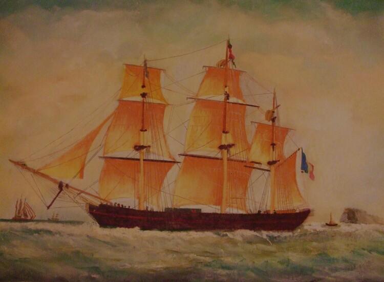 le voilier orange