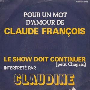 CLAUDINE - POUR UN MOT D'AMOUR DE CLAUDE FRANCOIS