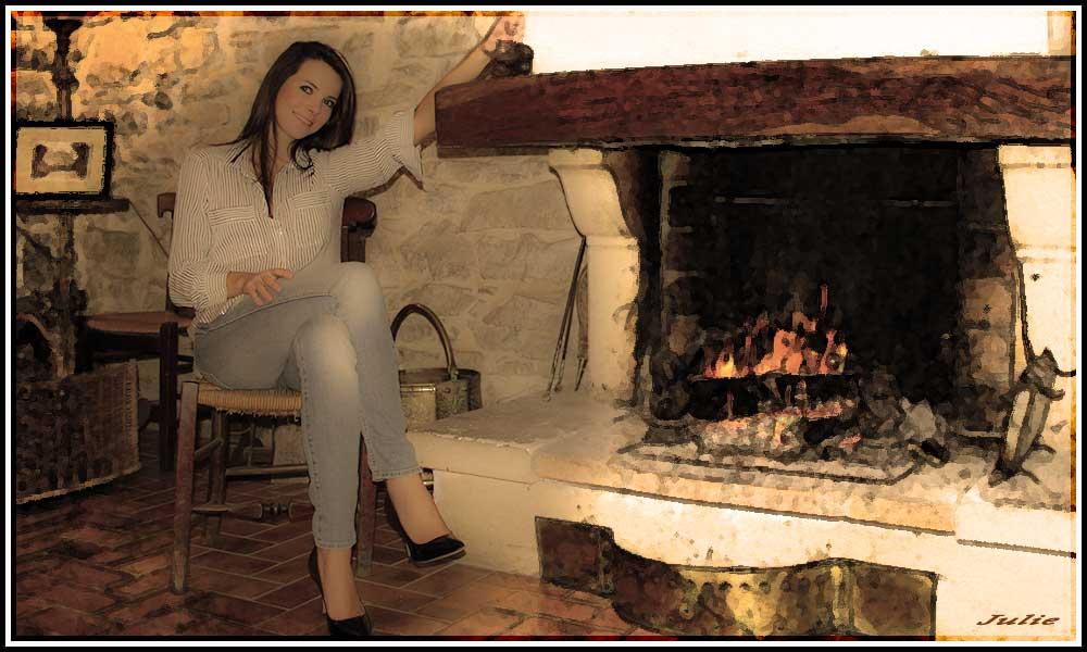 Julie au coin du feu